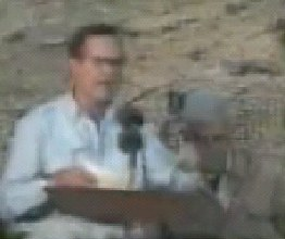 George Bush Senior in Saudi Arabia during the Persian Gulf War, either 1990 or 1991.